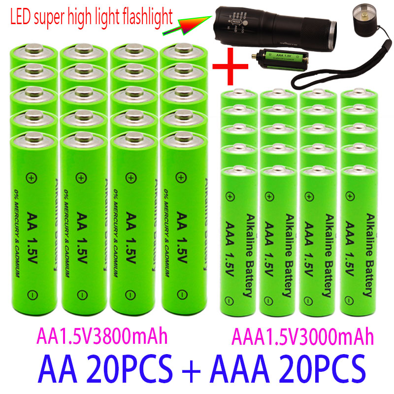 AA/AAA перезаряжаемые щелочные батареи 1,5 в 3800 мАч и 3000 мАч, электронное оборудование для фонарика, резервная батарея MP3