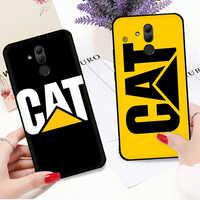 Funda de silicona con logo de Caterpillar para Huawei Y6 Y7 Y9 prime Mate 10 20 30 Lite Pro Nova 2i 3i 4 5i