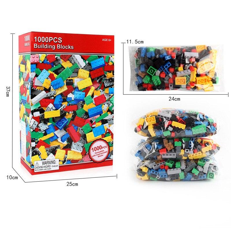 Image 2 - 1000 шт наборы строительных блоков для города DIY креативные кирпичи LegoINGLs классические части для создания Brinquedos образовательные игрушки для детей-in Кубики для игр from Игрушки и хобби