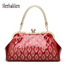 Women Bag Fashion patent leather bag High Quality Handbag Hollow out bride package 2019 Hot Sale star handbag  brand sac a main