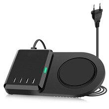10ワットチーワイヤレス充電器ポータブルマルチusb急速充電iphone xs xr 7 8 12 11プロマックスipadの高速充電ドックステーション
