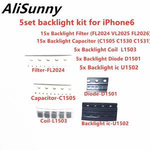 Image 1 - AliSunny 5set (45pcs) Backlight Set Solution Kit ic for iPhone 6 Plus U1502 Coil L1503 Diode D1501 Capacitor C1530 Filter FL2024