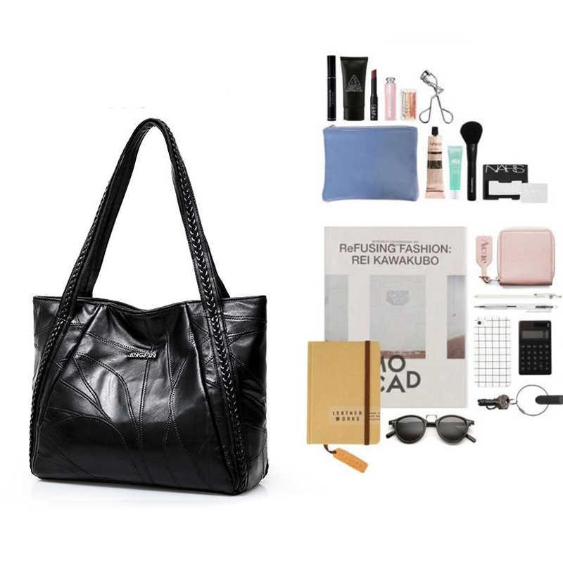 Frauen Handtasche PU Leder Schulter Tasche Lässig Einkaufstasche Tasche Weibliche Mode Trend Qualität Tote Umhängetasche