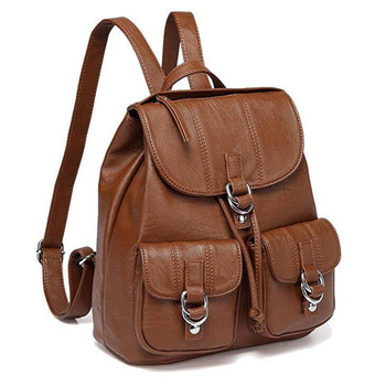 Backpack Purse for Women Fashion Faux Leather Buckle Flap Drawstring Backpack