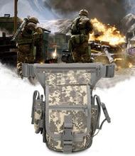 купить Military Gear Tactical Small Bag Molle Pouch Drop Leg Bag Camouflage Hunting Fanny Pack Leg Pouch Hiking Cycling Bag по цене 741.19 рублей