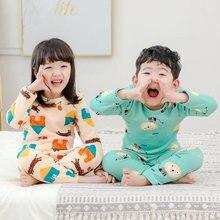 Kids Pajamas Underwear-Set Home-Clothes Girl Baby Winter Children Cartoons New Velvet