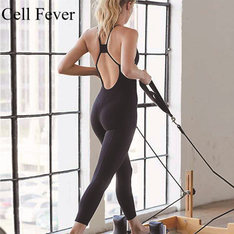 Solid Yoga Set Women Sexy Sport Tights Rompers and Jumpsuit Female Bodycon Fitness Jumpsuits Workout Gym Elastic Sportswear