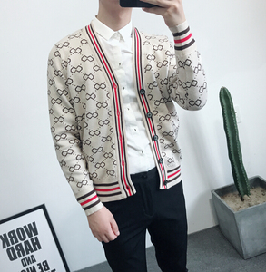 Image 3 - Autumn and Winter Mens Jacquard and Fit up V neck Knitted Mens fashion trend Simple retro casual sweater  Men