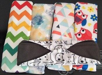 18*25cm 10Pcs Mixed Color Eco Life Panty Liner Cloth Menstrual Pad Mama Sanitary Reusable Soft Washable Charcoal Period Napkins