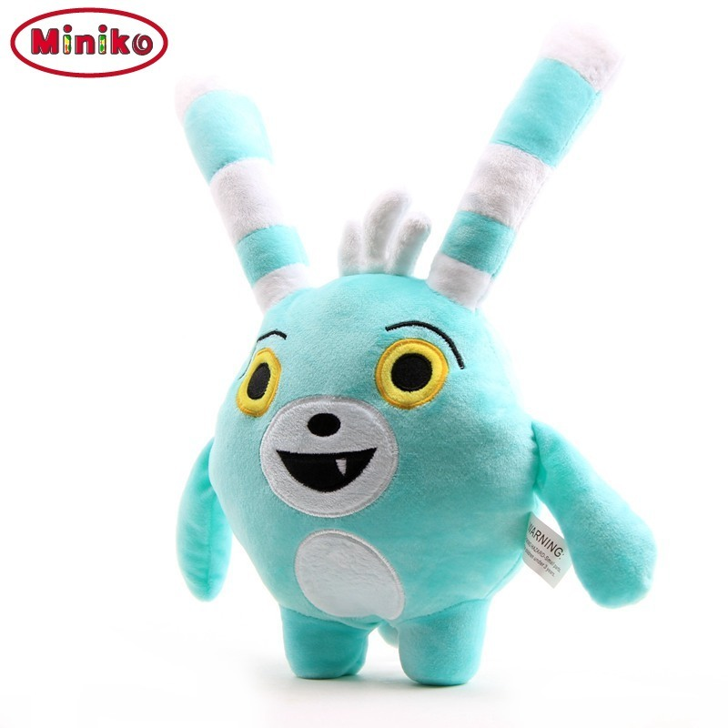 Miniko 30cm 50cm TV Abby Hatcher Bunny Bozzly Plush Toy Cuddly Lovely Rabbit Blue Stuffed Doll Animal Teddy Pillow Toys
