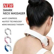 Массажер для шеи ems умный массаж мышцы позвонка расслабление