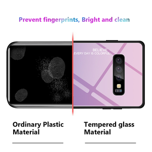 Image 5 - S10 מקרה מזג זכוכית עבור Samsung Galaxy S10 בתוספת S 10 e S20 אולטרה שיפוע זכוכית כיסוי אחורי מעטפת מגן S 10 S10E מקרה