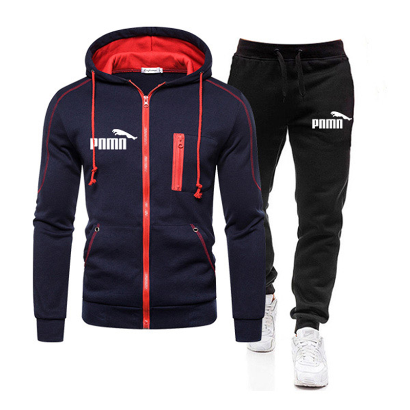 Two Piece Tracksuit Set for Men, Sportswear for Men, Hooded Jacket and Pants, Tracksuit, Men's Clothing,  Plus Size S-3XL 3