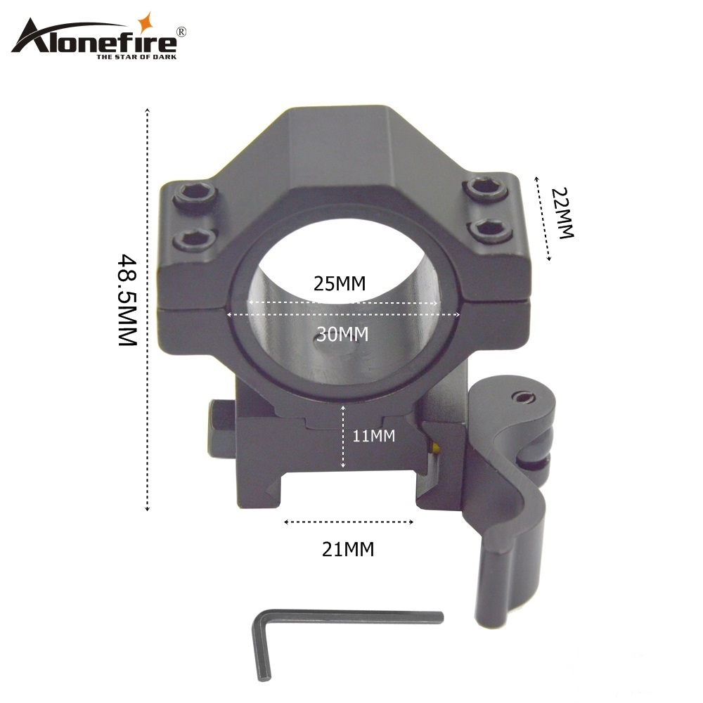 Alonefire KC06 Aluminum Quick Release 25-30mm Weaver Rail Dovetail Base Airsoft Rifle Shot Gun Light Laser Sight Scope Mounts