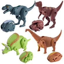 Imitacja dinozaura zabawka jajko zestaw dla chłopca figurka zwierząt transformacja Model smok tyranozaur dla dzieci Dropshipping tanie tanio MUQGEW Puppets Unisex 12 cm 1 pcs Toy 0-12 miesięcy 13-24 miesięcy 2-4 lat 5-7 lat 8-11 lat 12-15 lat Dorośli 14 lat