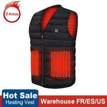 Gilet chauffant intelligent en coton pour homme et femme, veste chauffante USB à infrarouge, pour l'extérieur, Flexible, thermique, hiver