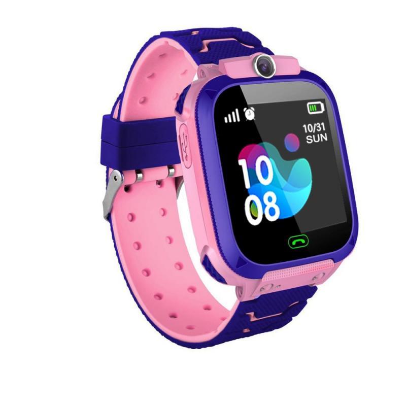 Q12 relógio inteligente com pequeno jogo gps touch screen 1.44 Polegada rastreador sos posicionamento para crianças crianças chamada em dois sentidos