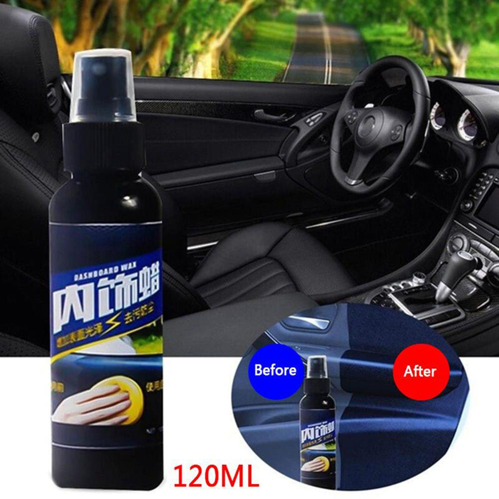 New 120ML Car Interior Maintenance Tool Spray Wax Multi functional Cleaning Spray for Dashboard Leather Plastic Car and Home Use|Leather & Upholstery Cleaner| |  - title=