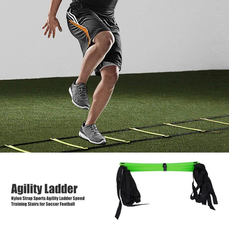 Hot Sale Agility Ladder Multi-function Multi Rung Nylon Strap Agility Ladder Speed Training Stairs For Soccer Football