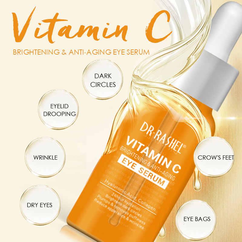 Dr. rashel 30 Ml Vitamine C Serum Vloeistof Verhelderende Dark-Cirkel Anti-Wallen Hyaluronzuur Anti-Aging Eye serum Vervagen Donkere Spot