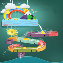 2021 New Baby Bath Toys Ducks Electric Rainbow Shower Toys With Lighting Music Bathroom Educational Water Game For Kids