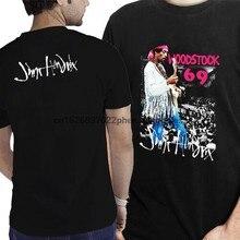 Jimmy Hendrix Woodstock 69 T-shirt Zwei Seiten T Neue männer T-Shirt