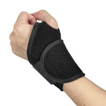 Useful Splint Sprains Arthritis Band Belt Carpal Tunnel Hand Wrist Support Brace Solid Black Wristbands for Fitness Brace P(China)