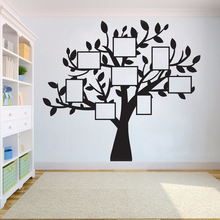 Tree Family photos Wall Sticker Bedroom tree of life roots Vinyl birds flying away home decor yoga studiodecor Decals HY782 tree wall decal sticker bedroom tree of life roots birds flying away home decor yoga studiodecor heart shaped branches a7 018