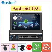 Lecteur DVD, Radio, Navigation GPS, wifi, 1din, android 10.0, avec commandes au volant, radio, enregistreur cassette, pour voiture