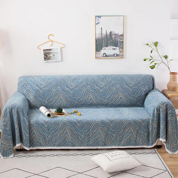 Slipcover All-inclusive Full Cover Sofa Covers Furniture Protector Chenille Solid Color Sofa Towel 1/2/3-seater Lace Towel