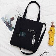 Fashion Women Letter Canvas Shoulder Bags 2019 New Arrival Soft Zipper Female Students Girls School Handbags