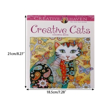 24 Pages Creative Cat Coloring Book Kill Time Painting Drawing For Children