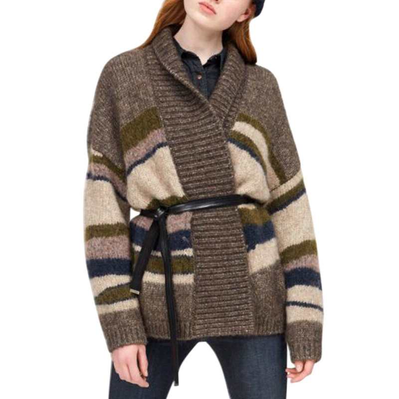 Lazy sweater womens coat autumn winter new long-sleeved thick loose knitting