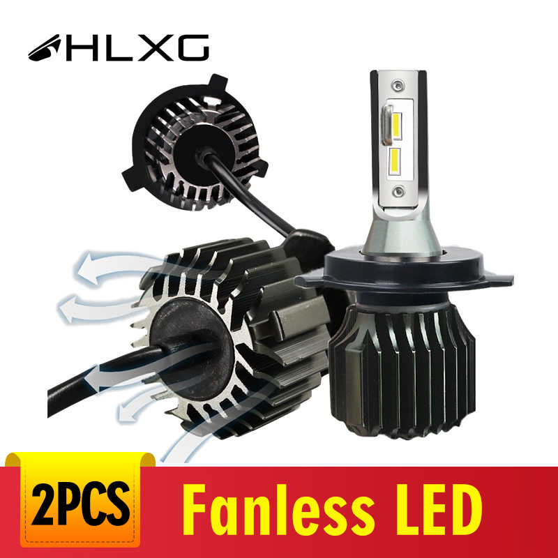 HLXG 2Pcs Mini 6000K CSP H3 H4 LED H7 9005 9006 Car Headlights 48W 8000LM HB4 Fog lights H8 H1 H11 led 12V light bulbs 9012 HIR2