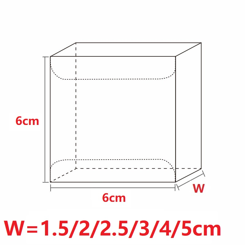 4xWx4 cm Transparent Waterproof Wedding Party Favors Boxes Clear PVC Candy Boxes Plastic PVC Cake Boxes Gift Packing (3)
