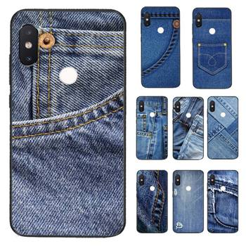 Yinuoda Jeans Style Blue Denim Coque Shell Phone Case for Xiaomi Redmi 5 5Plus 6 6A 4X 7 7A 8 8A 9 Note 5 5A 6 7 8 8Pro 8T 9
