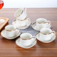 Керамическая кофейная чашка блюдце Европейская простота Пномпень эспрессо капучино латте кафе домашний чай Кружка небольшой емкости кружка