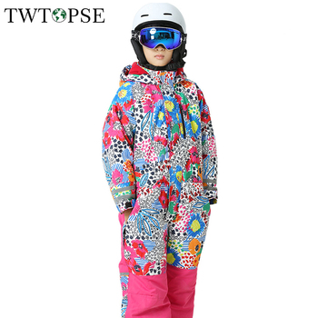TWTOPSE Cartoon Kids Snow Suit Skiing Snowboard Suit Coverall One Piece Winter Child Girl Boy Outdoor Insulated Pant Jacket Set