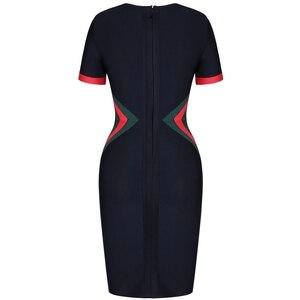 Image 5 - Geyik Lady ünlü bandaj elbise kadınlar için 2019 kısa kollu bandaj elbise siyah seksi Bodycon kulübü elbise parti zarif