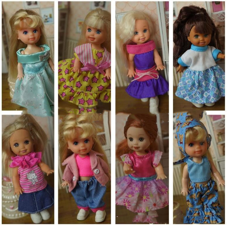 Cute Mini Kelly Doll Clothing Set Fashion Designs Doll Outfits Handmade Quality Doll Clothes Dresses Doll Accessories