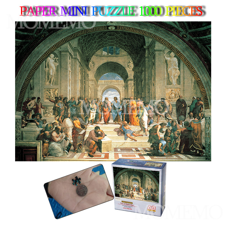 The School Of Athens Paper 1000 Pieces Jigsaw Puzzle Mini A3 Puzzle 1000 Pieces Adults Toys Landscape Puzzles For Teens Kids