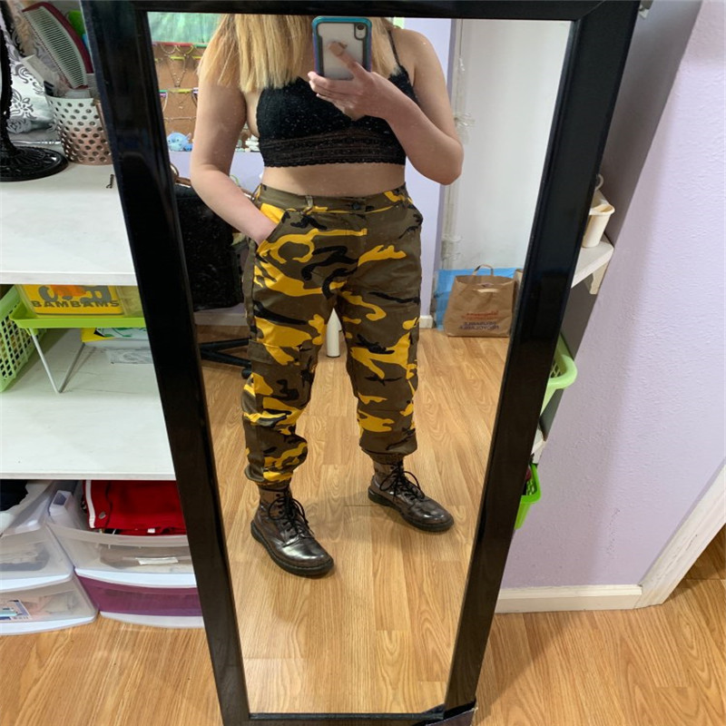 Hc8a7fe88a1554263ae8c8639a78be61fm Women's Camouflage Cargo Trousers Casual Pants Military Army Combat Camouflage Jeans Sexy Women Casual Colorful Camou Jeans