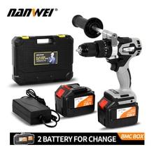 Cordless-Drill 2000ah-Battery Industrial-Grade Fishing Metal Brushless 21V Auto-Locking-Chuck