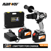 21V Cordless Drill Industrial Grade Brushless Impact Drill 1/2