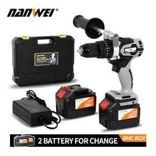 Cordless-Drill 2000ah-Battery Fishing Brushless Metal 21V Auto-Locking-Chuck Industrial-Grade