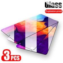 Protector de pantalla de cristal templado para Samsung Galaxy, Protector de pantalla para Samsung Galaxy A50 A30 A20 M10 M20 M30 A40 A70 A10 A 50 70, 3 unidades