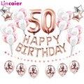 Воздушные шары из фольги для дня рождения, 38 шт., 32 дюйма