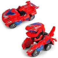 Nouveau dinosaure transformé électrique jouet voiture général à roues Robot réaménagement voiture enfants cadeau lampe