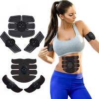 FOUAVRTEL Bauch Muscle Stimulator EMS Muscle Trainer Muscle Toner Elektronische Körper Exerciser AB Muscle Massager