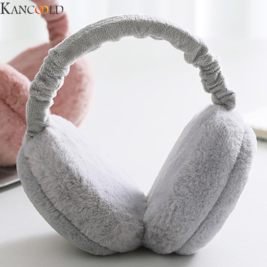 KANCOOLD Christmas Gifts New Earmuffs For Women Imitation Rabbit Fur Winter Earmuffs Warm Female Cotton Ear Warmers New Arrival